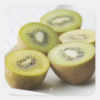 Kiwi fruit square sticker
