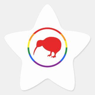 Kiwi GLBTQ Pride Star Sticker