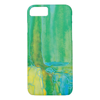 Kiwi Green Abstact Water Art iPhone 7 Case