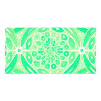 Kiwi green geometric card