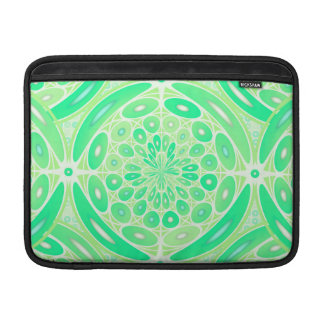 Kiwi green geometric MacBook air sleeve