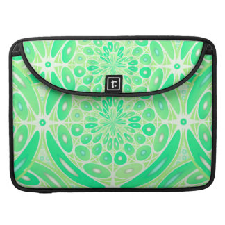 Kiwi green geometric MacBook pro sleeve