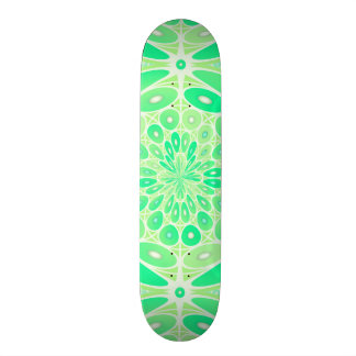 Kiwi green geometric skateboard deck
