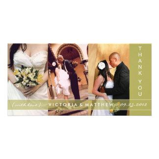 KIWI GREEN UNION | WEDDING THANK YOU CARD PHOTO CARD