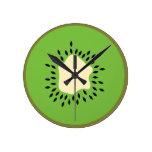 Kiwi illustration clock
