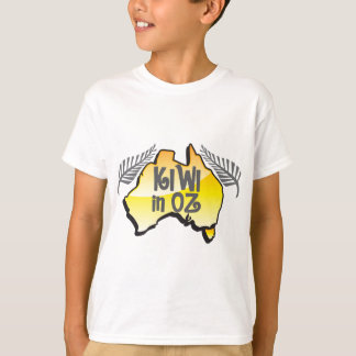 KIWI in OZ New Zealand in Australia T-Shirt