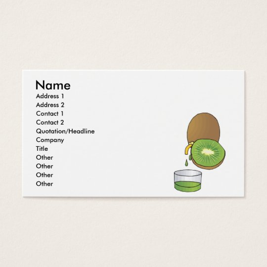 kiwi juice business card