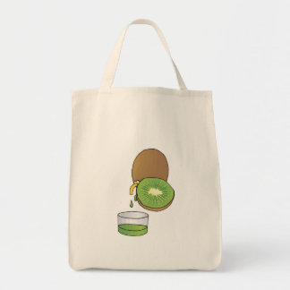kiwi juice tote bags