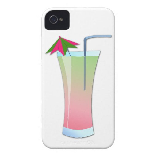 Kiwi Kooler de la fresa iPhone 4 Case-Mate Coberturas