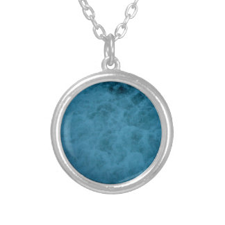 """""""Kiwi Lifestyle"""" - A Touch of Blue Slice#2 Silver Plated Necklace"""