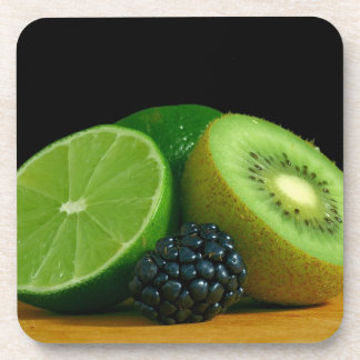 Kiwi, Lime and Blackberry Drink Coaster