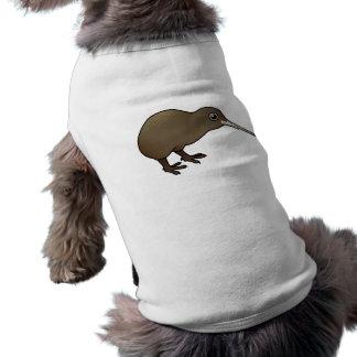 Kiwi lindo de Brown de Nueva Zelanda Playera Sin Mangas Para Perro