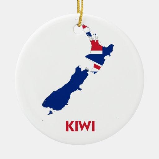 Kiwi map ceramic ornament zazzle for Decoration kiwi