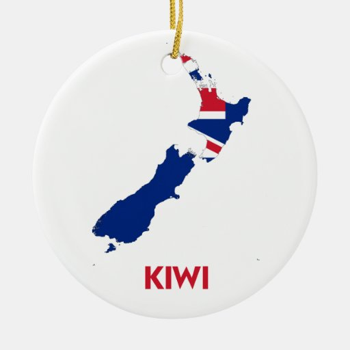 Kiwi map christmas tree ornaments for Decoration kiwi