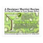 Kiwi Martini Recipe Postcard