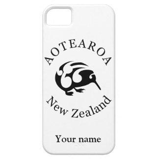 KIWI negro con Koru iPhone 5 Case-Mate Protector