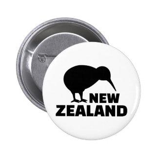Kiwi New Zealand 2 Inch Round Button