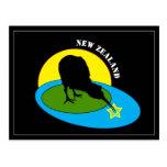 Kiwi - New Zealand Bird & Bro travel Postcard