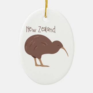 Kiwi New Zealand Bird Ceramic Ornament