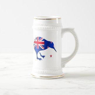 kiwi New Zealand flag soccer football gifts Beer Stein