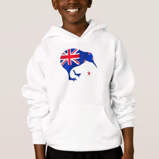 kiwi New Zealand flag soccer football gifts Hoodie