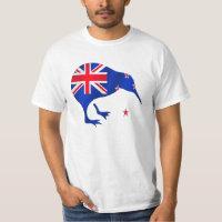 kiwi New Zealand flag soccer football gifts T-Shirt