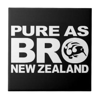 Kiwi, Nueva Zelanda puro Azulejo Cuadrado Pequeño