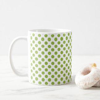 Kiwi Pattern Fruit Food Green Black Brown Coffee Mug