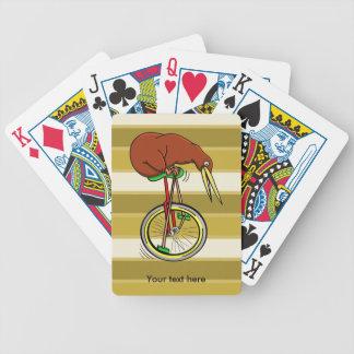Kiwi Peddling  A One Wheeled Bicylce Bicycle Playing Cards