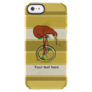 Kiwi Peddling  A One Wheeled Bicylce Clear iPhone SE/5/5s Case