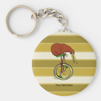 Kiwi Peddling  A One Wheeled Bicylce Keychain