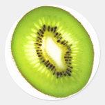 Kiwi Pegatinas Redondas
