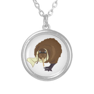Kiwi Pilot Silver Plated Necklace