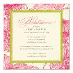 KIWI + PINK FLOWERS | BRIDAL SHOWER INVITE