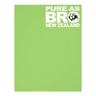 Kiwi,  Pure as bro, New Zealand Letterhead
