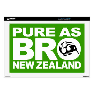 "Kiwi,  Pure as bro, New Zealand 17"" Laptop Skins"