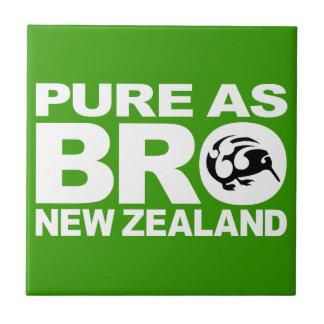Kiwi, puro como bro, Nueva Zelanda Azulejo Cuadrado Pequeño