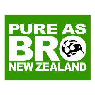Kiwi, puro como bro, Nueva Zelanda Tarjeta Postal