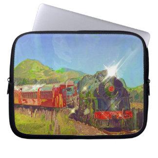 Kiwi Railway Steam Train for Trainspotters Art Computer Sleeves