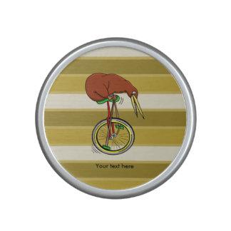 Kiwi Riding A Unicycle Funny  Illustration Bluetooth Speaker
