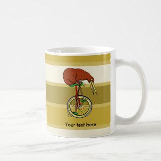 Kiwi Riding A Unicycle Funny  Illustration Coffee Mug