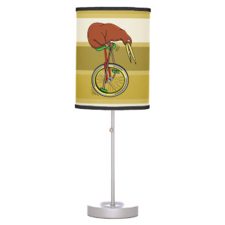 Kiwi Riding A Unicycle Funny  Illustration Table Lamp