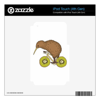 Kiwi Riding Bike With Kiwi Wheels iPod Touch 4G Skin