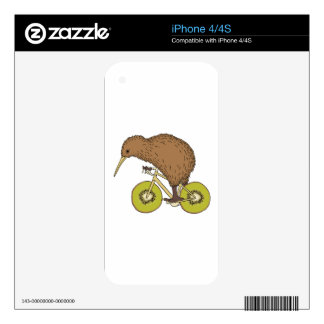 Kiwi Riding Bike With Kiwi Wheels Skins For The iPhone 4S