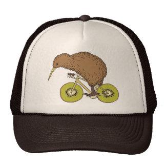 Kiwi Riding Bike With Kiwi Wheels Trucker Hat