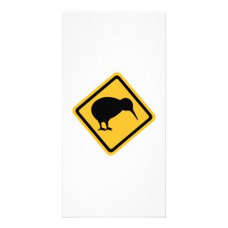 Kiwi road sign photo card