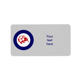 Kiwi Roundel Label