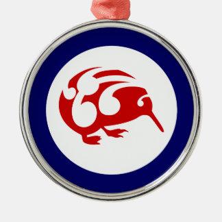 Kiwi Roundel Metal Ornament