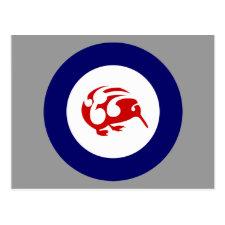 Kiwi roundel post card