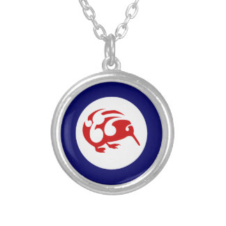 Kiwi Roundel Silver Plated Necklace